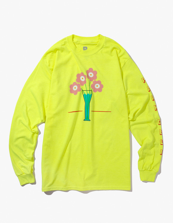 PARK DELI Flower Care L/S Tee - Saftey Yellow | HEIGHTS. | 하이츠 온라인 스토어