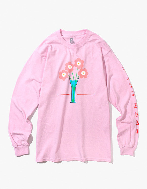 PARK DELI Flower Care L/S Tee - Soft Pink | HEIGHTS. | 하이츠 온라인 스토어