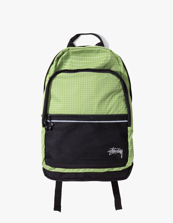 Stussy Ripstop Nylon Backpack - Lime | HEIGHTS. | 하이츠 온라인 스토어