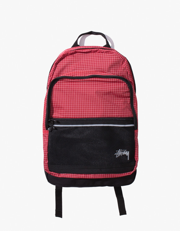 Stussy Ripstop Nylon Backpack - Red | HEIGHTS. | 하이츠 온라인 스토어