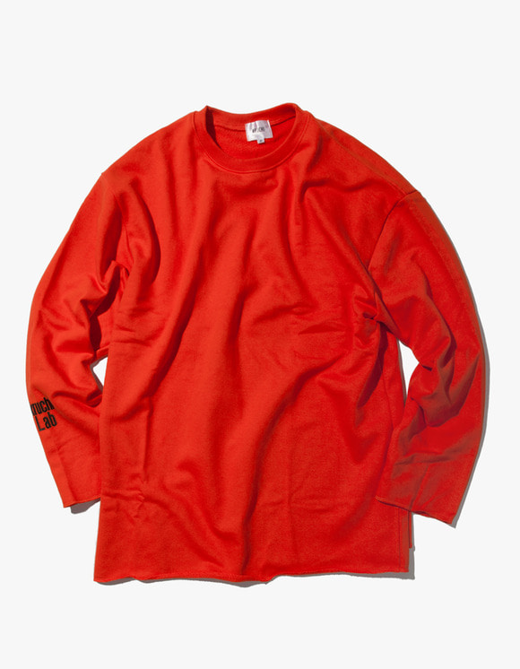 Kruchi lab Lab Logo Loose Fit Crewneck - Orange | HEIGHTS. | 하이츠 온라인 스토어