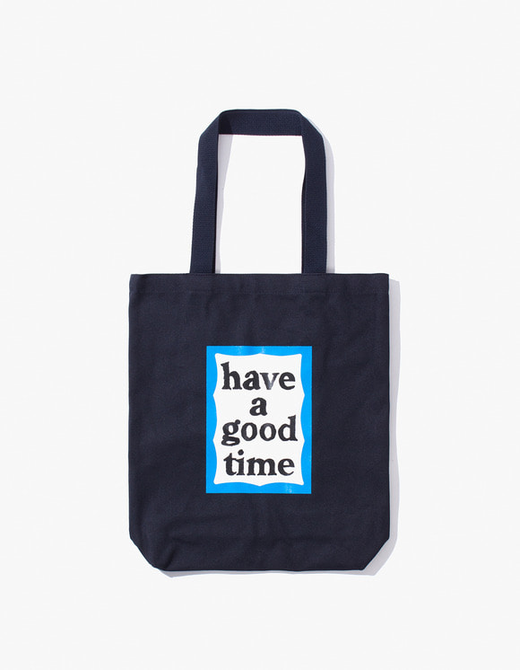 have a good time Blue Frame Tote Bag - Navy | HEIGHTS. | 하이츠 온라인 스토어