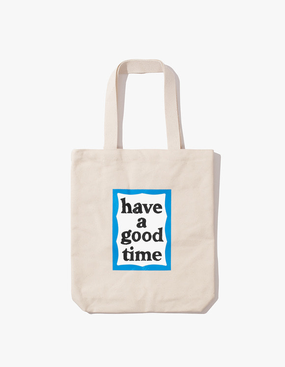 have a good time Blue Frame Tote Bag - Natural | HEIGHTS. | 하이츠 온라인 스토어