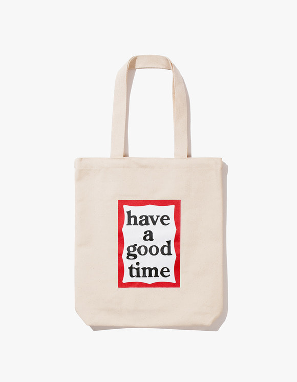 have a good time Frame Tote Bag - Natural | HEIGHTS. | 하이츠 온라인 스토어