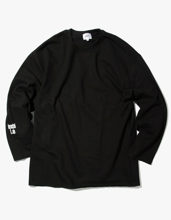 Kruchi lab Lab Logo Loose Fit Crewneck - Black | HEIGHTS. | 하이츠 온라인 스토어