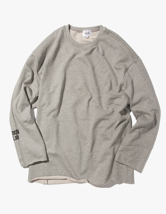 Kruchi lab Lab Logo Loose Fit Crewneck - Grey | HEIGHTS. | 하이츠 온라인 스토어