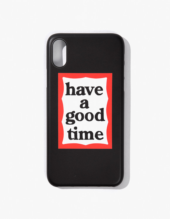 have a good time Frame Iphone Case for Iphone X - Black | HEIGHTS. | 하이츠 온라인 스토어