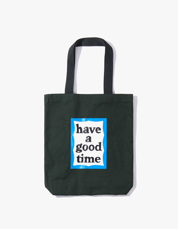 have a good time Blue Frame Tote Bag - Dark Green | HEIGHTS. | 하이츠 온라인 스토어