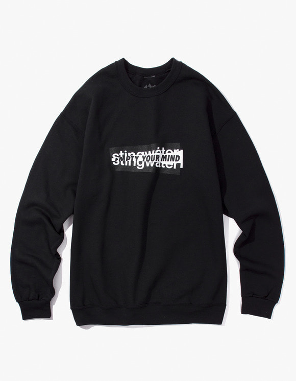 Stingwater Sticker Sweater - Black | HEIGHTS. | 하이츠 온라인 스토어