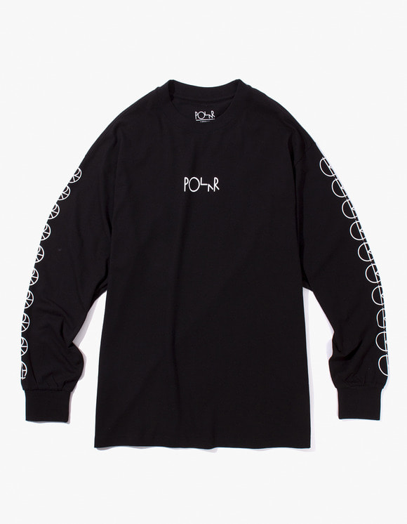 Polar Skate Co. Racing Longsleeve Tee - Black | HEIGHTS. | 하이츠 온라인 스토어