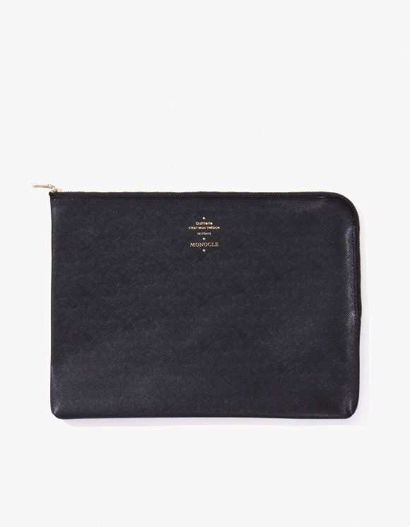 Monocle Delfonics x Monocle Large Zip-Case - Black | HEIGHTS. | 하이츠 온라인 스토어