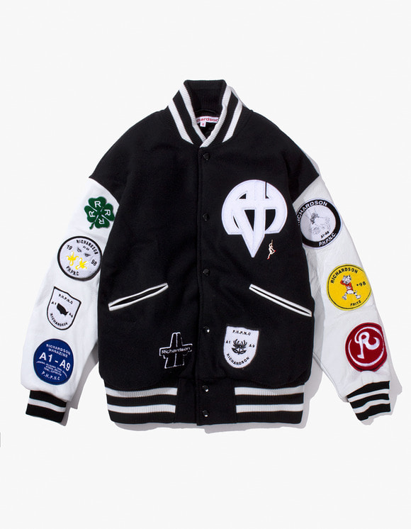 Richardson Letterman Bomber - Black / White | HEIGHTS. | 하이츠 온라인 스토어