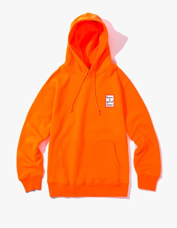 have a good time Mini Frame Pullover Hoodie - Neon Orange | HEIGHTS. | 하이츠 온라인 스토어