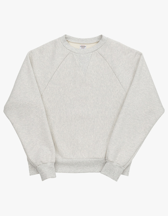 Heritage Floss 221 Reverse Crewneck - M.Grey 1% | HEIGHTS. | 하이츠 온라인 스토어