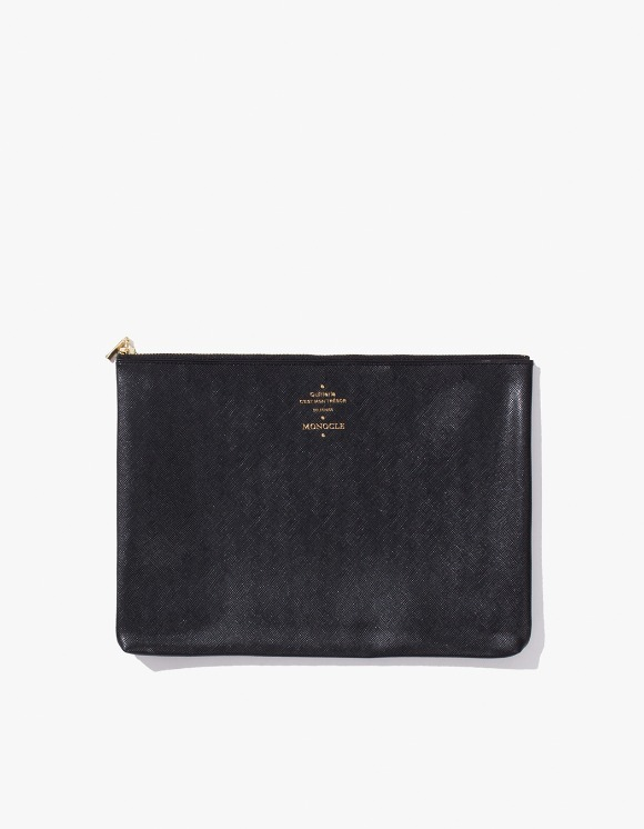Monocle Delfonics x Monocle Medium Zip-Case - Black | HEIGHTS. | 하이츠 온라인 스토어