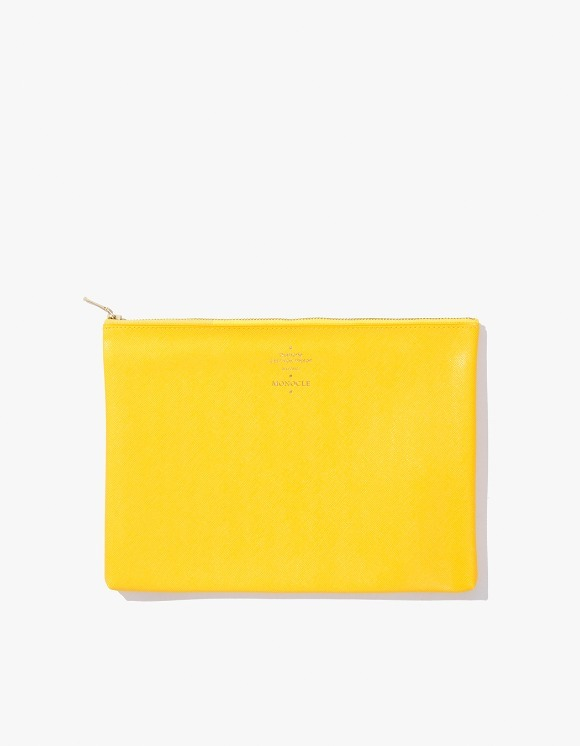 Monocle Delfonics x Monocle Medium Zip-Case - Yellow | HEIGHTS. | 하이츠 온라인 스토어