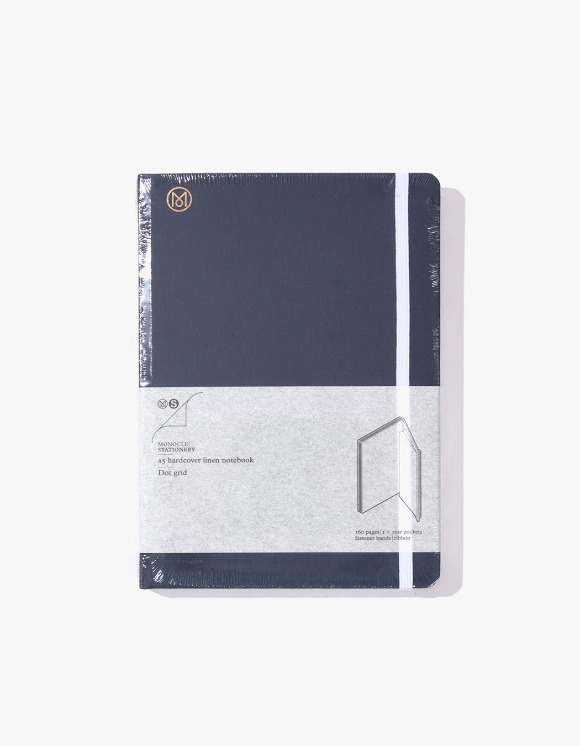 Monocle A5 Hardcover Linen Notebook - Navy | HEIGHTS. | 하이츠 온라인 스토어