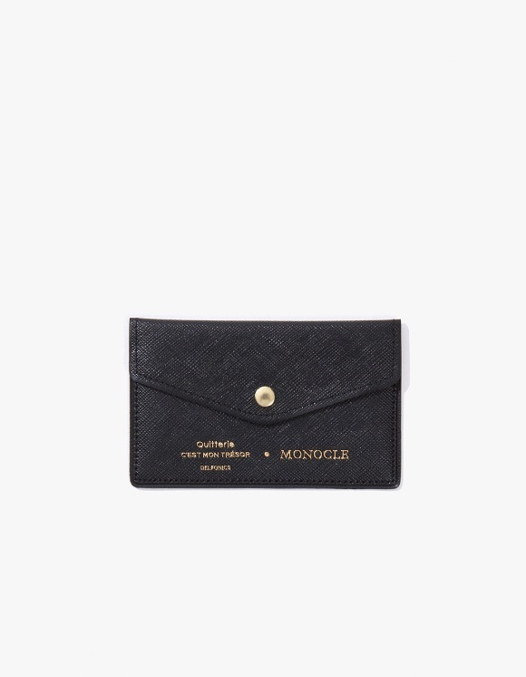 Monocle Delfonics x Monocle Cardholder - Black | HEIGHTS. | 하이츠 온라인 스토어