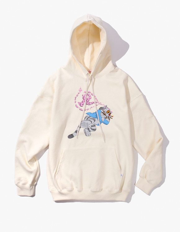 Richardson Fritz  the Cat Smoked Out Hoodie - Winter White | HEIGHTS. | 하이츠 온라인 스토어