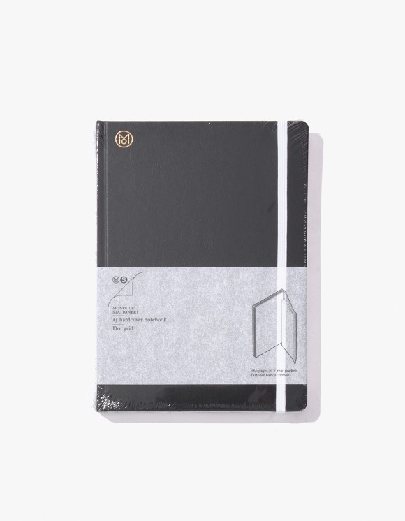 Monocle A5 Hardcover Leather Notebook - Black | HEIGHTS. | 하이츠 온라인 스토어