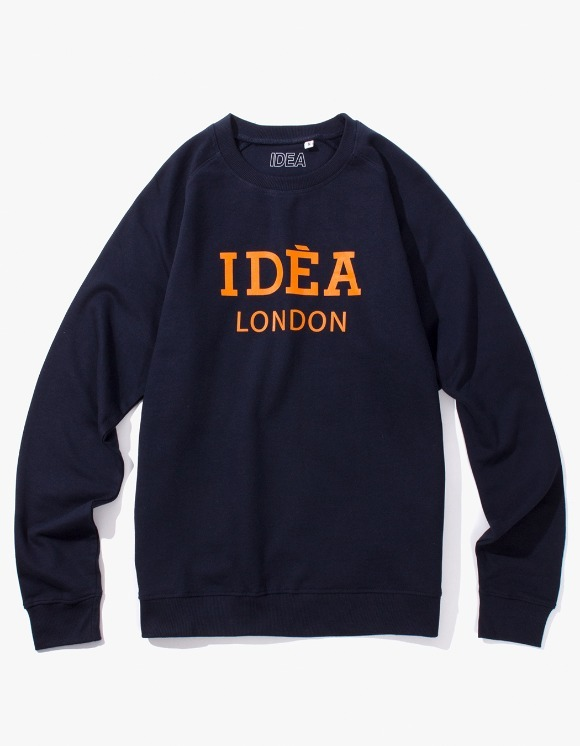 IDEA IDEA London Crewneck - Navy | HEIGHTS. | 하이츠 온라인 스토어