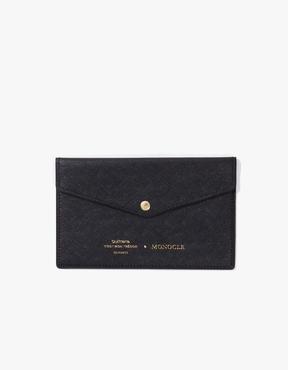 Monocle Delfonics x Monocle Passbook Case - Black | HEIGHTS. | 하이츠 온라인 스토어