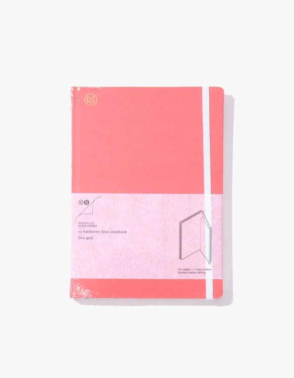 Monocle A5 Hardcover Linen Notebook - Pink | HEIGHTS. | 하이츠 온라인 스토어