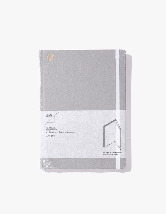 Monocle A5 Hardcover Linen Notebook - Grey | HEIGHTS. | 하이츠 온라인 스토어