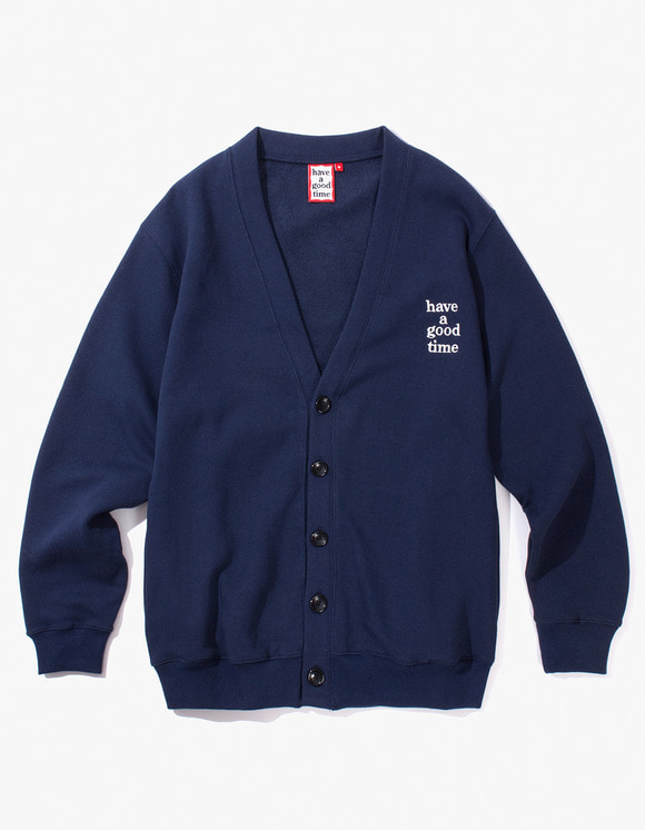 have a good time Sweat Cardigan - Navy | HEIGHTS. | 하이츠 온라인 스토어