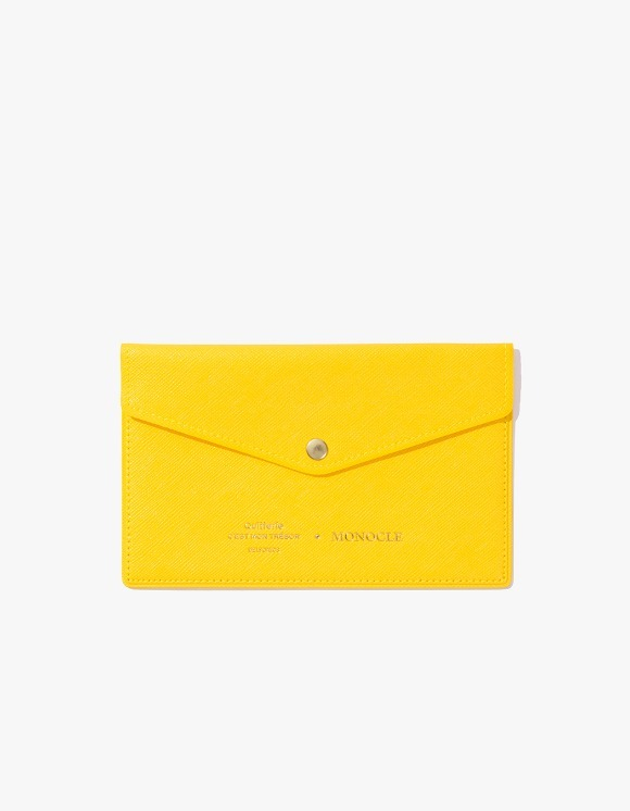 Monocle Delfonics x Monocle Passbook Case - Yellow | HEIGHTS. | 하이츠 온라인 스토어