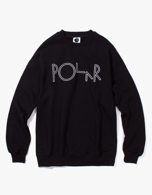 Polar Skate Co. Script Crewneck - Black | HEIGHTS. | 하이츠 온라인 스토어