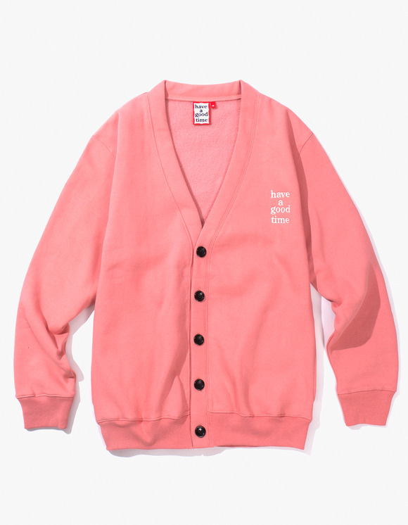 have a good time Sweat Cardigan - Indie Pink | HEIGHTS. | 하이츠 온라인 스토어