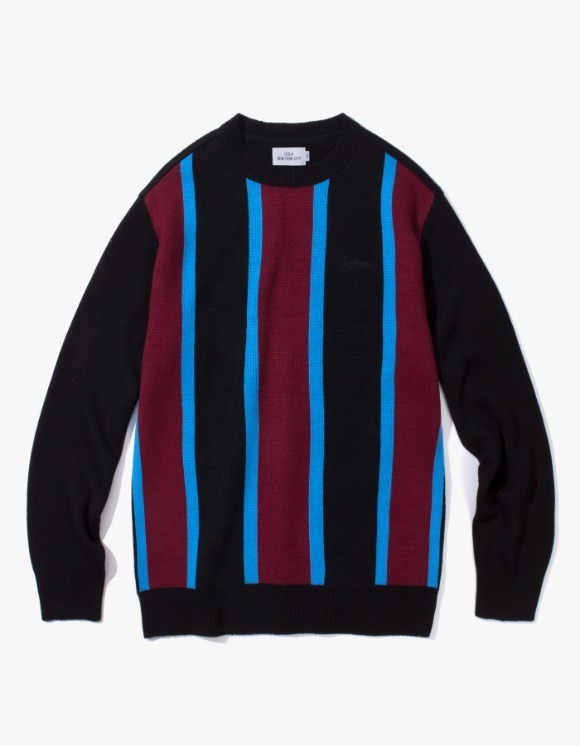 IZOLA NYC Vertical Striped Sweater - Black | HEIGHTS. | 하이츠 온라인 스토어