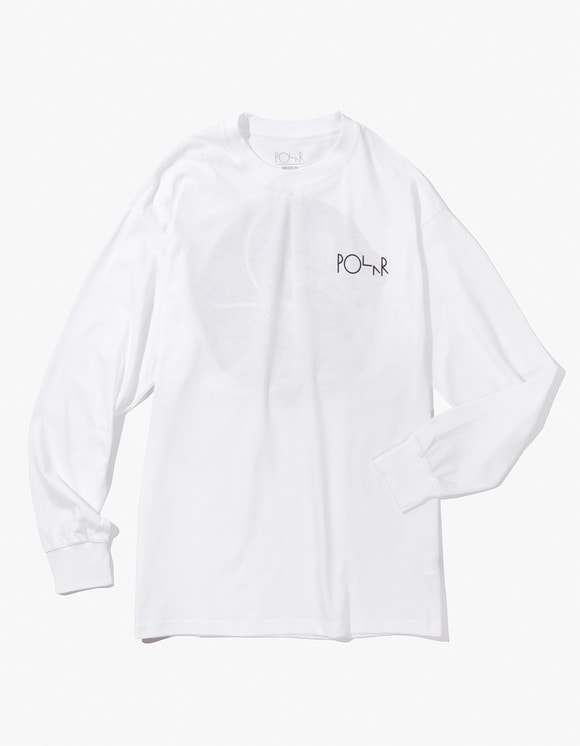 Polar Skate Co. Lambo Liful Fill Logo Longsleeve Tee - White | HEIGHTS. | 하이츠 온라인 스토어