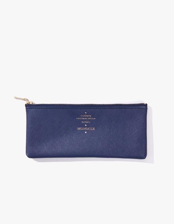 Monocle Delfonics x Monocle Flat Pen Case - Navy | HEIGHTS. | 하이츠 온라인 스토어