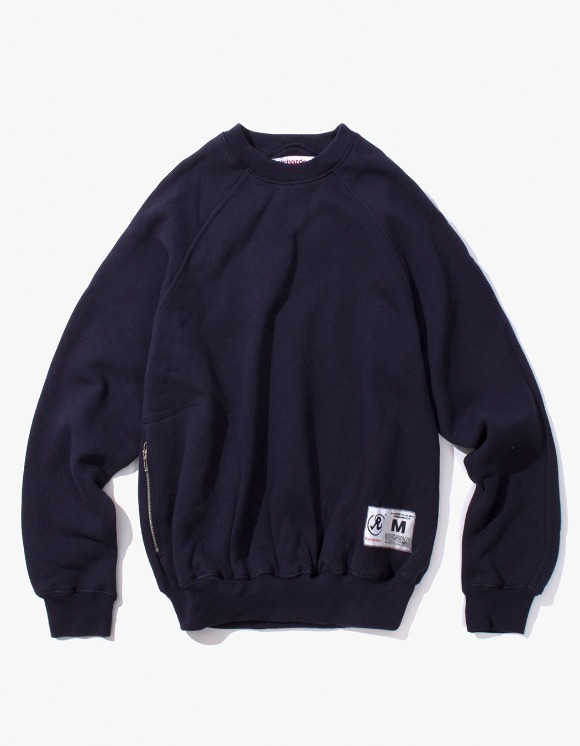 Richardson Engineered Raglan Crew - Midnight Blue | HEIGHTS. | 하이츠 온라인 스토어