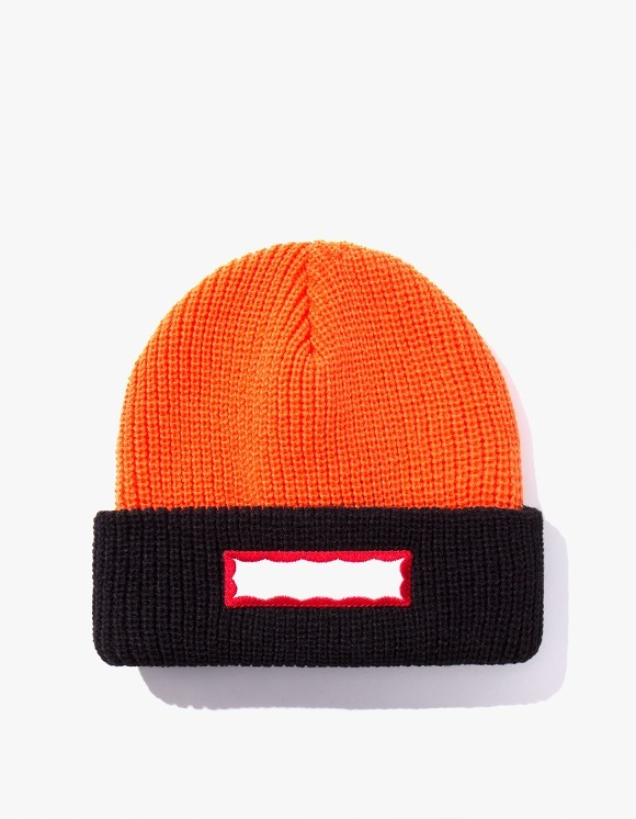 have a good time Side Frame 2 Tone Beanie - Orange/Black | HEIGHTS. | 하이츠 온라인 스토어