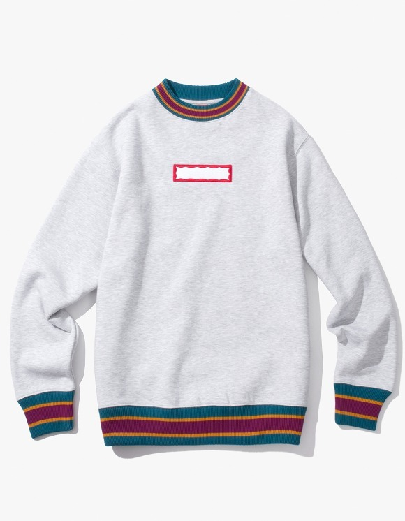 have a good time Color Rib Crewneck - Heather Grey | HEIGHTS. | 하이츠 온라인 스토어