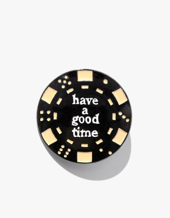 have a good time Poker Chip Pin - Black | HEIGHTS. | 하이츠 온라인 스토어