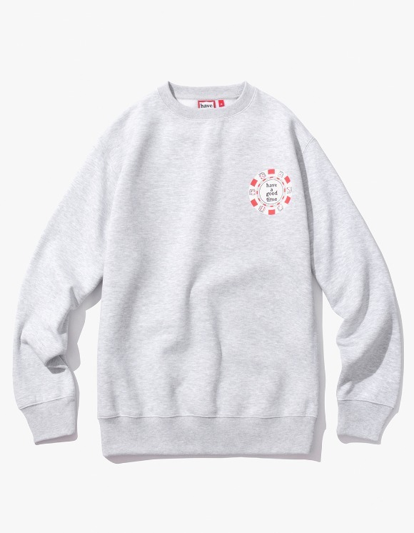 have a good time Poker Chip Crewneck - Heather Grey | HEIGHTS. | 하이츠 온라인 스토어