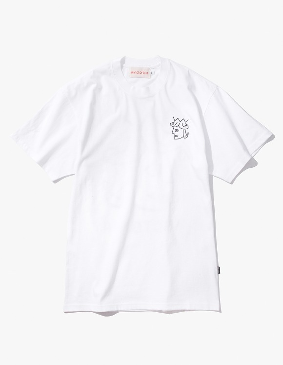 Victoria Hong Kong Queen Head S/S Classic Tee - White | HEIGHTS. | 하이츠 온라인 스토어