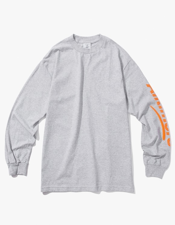 Alltimers Estate Puffy L/S Tee - Heather Grey | HEIGHTS. | 하이츠 온라인 스토어