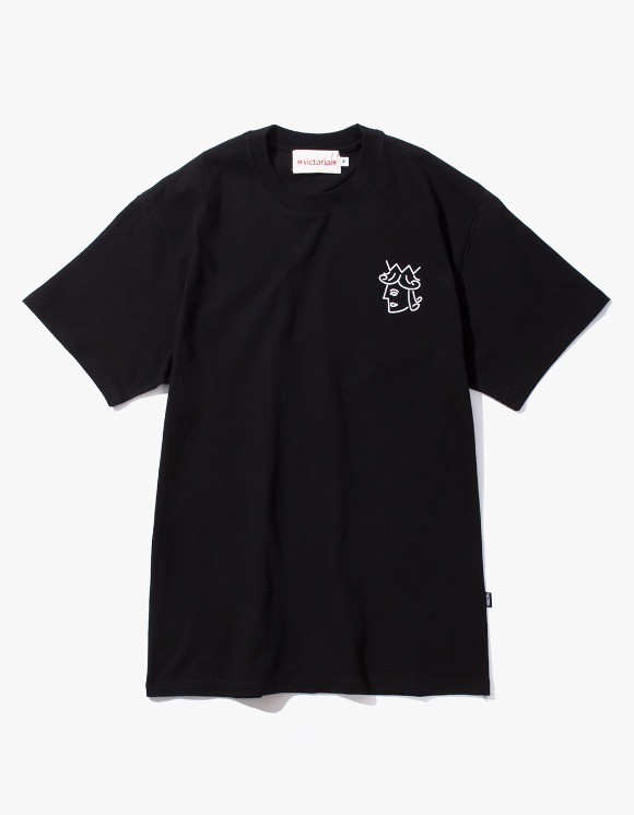 Victoria Hong Kong Queen Head S/S Classic Tee - Black | HEIGHTS. | 하이츠 온라인 스토어
