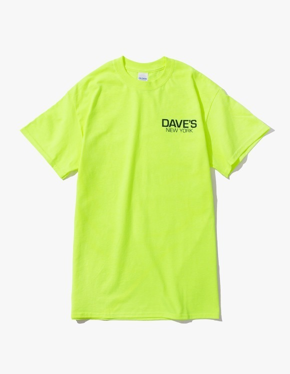 DAVE'S NEW YORK Work Logo S/S T-Shirt - Safety Green | HEIGHTS. | 하이츠 온라인 스토어