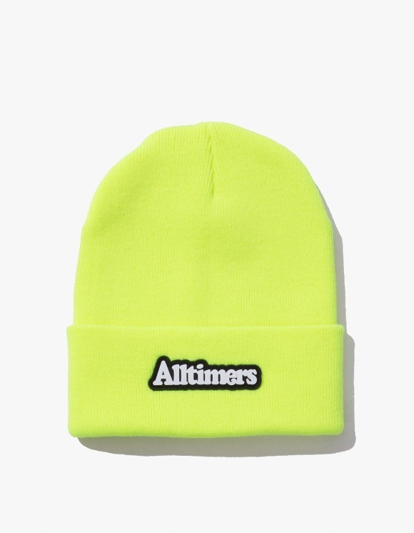 Alltimers Brodway Rubber Beanie - Neon Green | HEIGHTS. | 하이츠 온라인 스토어