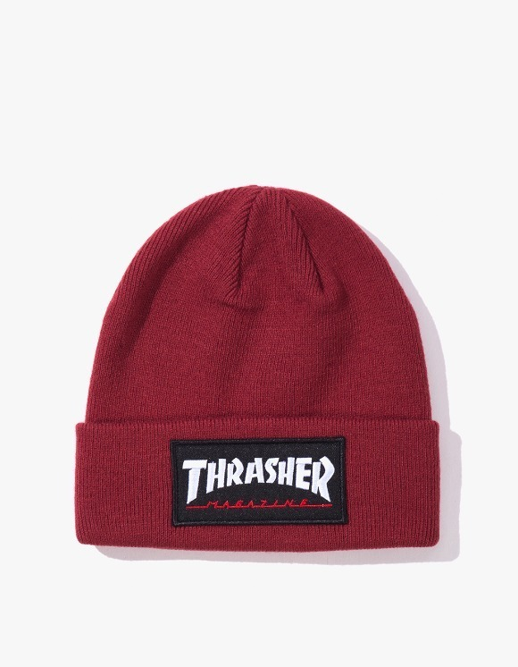 Thrasher Logo Patch Beanie - Maroon | HEIGHTS. | 하이츠 온라인 스토어