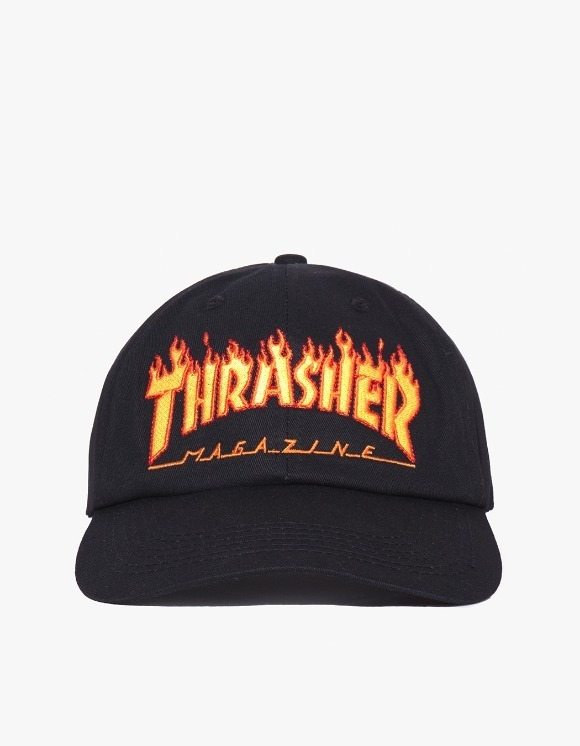 Thrasher Flame Old Timer Hat - Black | HEIGHTS. | 하이츠 온라인 스토어