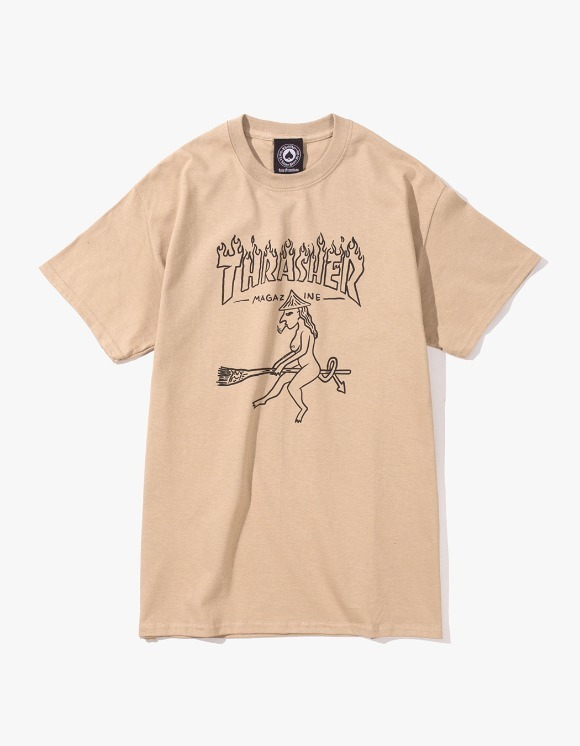 Thrasher Witch S/S Tee - Tan | HEIGHTS. | 하이츠 온라인 스토어