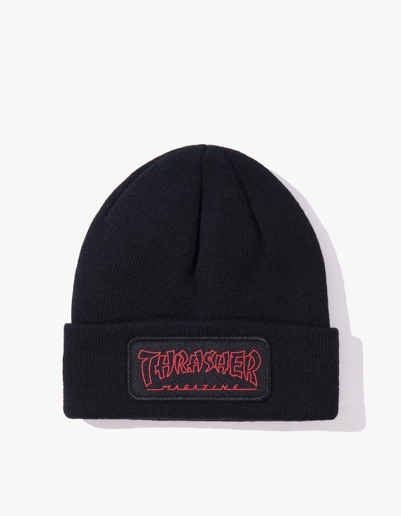 Thrasher China Banks Patch Beanie - Black | HEIGHTS. | 하이츠 온라인 스토어
