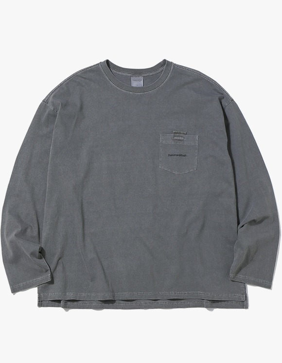 thisisneverthat T-Logo Pocket L/SL Top - Charcoal | HEIGHTS. Online Store